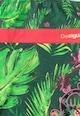 DESIGUAL Rochie in nuante de verde cu rosu si model tropical Fargo Fete